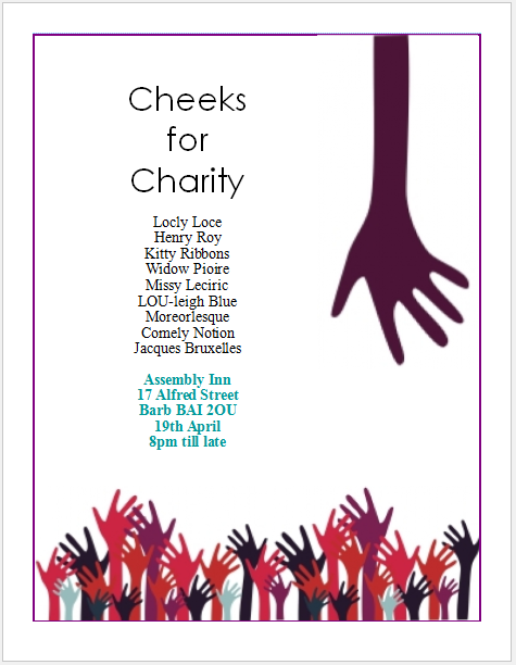 Charity Events Flyers images