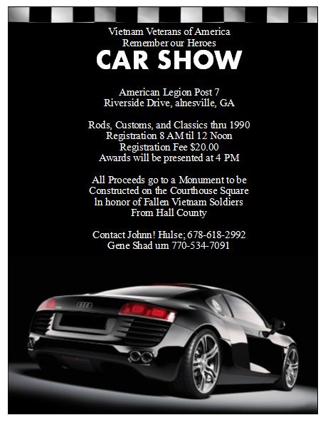 Show Flyer Template Seatledavidjoelco - Car and bike show flyer template