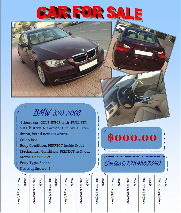 Doc728942 For Sale Flyer Template Free free sales flyer – Car for Sale Flyer