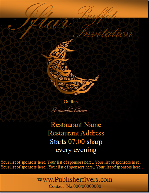 Publisher flyers iftar buffet invitation flyer template iftar buffet invitation flyer template stopboris Gallery